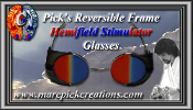 Pick's Reversible Frame Hemifield Stimulator Glasses